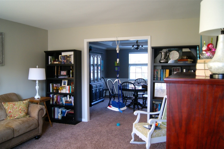 A view to the dining room with J's Johnny Jump Up