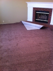 The carpet goes down...